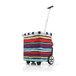 Panier carrycruiser à rayures multicolores H 47,5 cm 342352