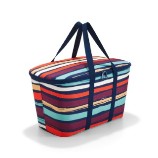 Sac isotherme Coolerbag à rayures multicolores 44,5x24,5x25 cm 342358
