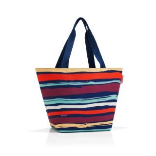 Sac Shopper taille M à rayures multicolores 51x30,5x26 cm 342365
