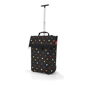 Sac à roulettes Trolley taille M noir à pois colorés 43x53x21 cm 342367