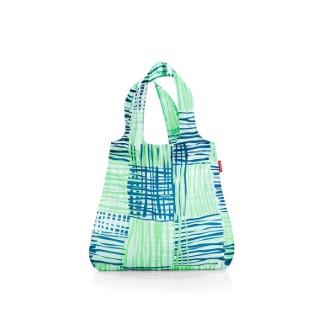 Sac mini maxi shopper collection motifs géométriques bleus et verts 342373