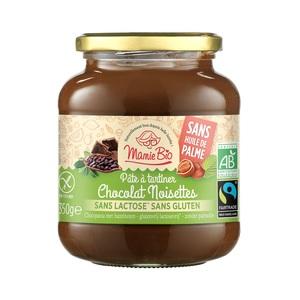 Pâte à tartiner bio chocolat noisettes sans lactose ni gluten - 350 g 342449