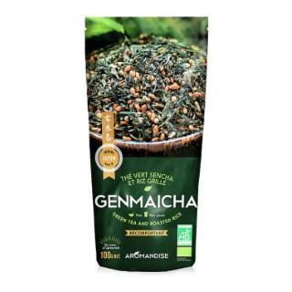 Thé vert et riz genmaicha bio en sachet de 100 g 342651