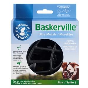 Muselière pour chien noire caoutchouc thermoplastique Baskerville Ultra – Taille 3 343321