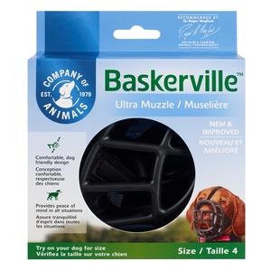 Muselière pour chien noire caoutchouc thermoplastique Baskerville Ultra – Taille 4 343322