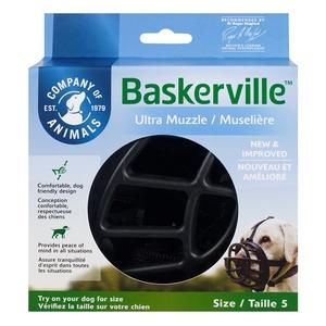 Muselière pour chien noire caoutchouc thermoplastique Baskerville Ultra – Taille 5 343323
