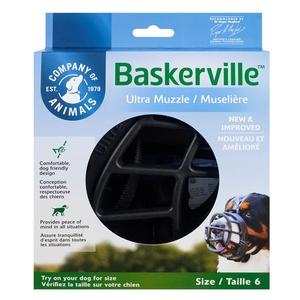 Muselière pour chien noire caoutchouc thermoplastique Baskerville Ultra – Taille 6 343324