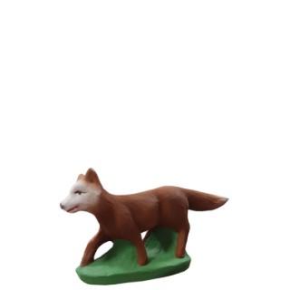 Santon renard en argile H 7 cm 343361