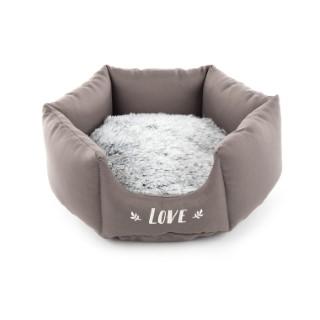 Corbeille igloo ronde gris 343414