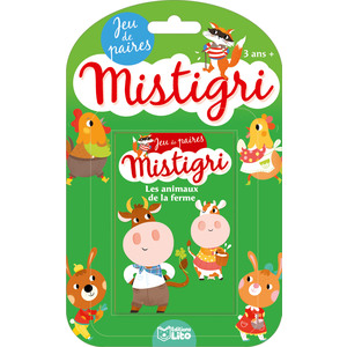 Les Animaux de la Ferme Jeux de Mistigri 3 ans Éditions Lito 343614