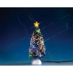 Sapin Evergreen 12 L Lumineux Multicolore à piles 7x7x18 cm 344145