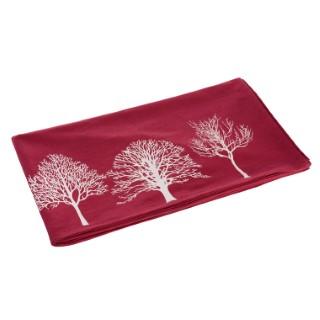 Nappe rouge à imprimé d'arbres blancs 150x250 cm 344440