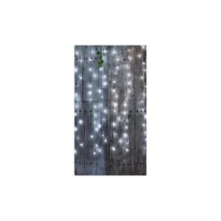 Rideau lumineux extérieur animé blanc pur à LED solaire 2x2 m ...