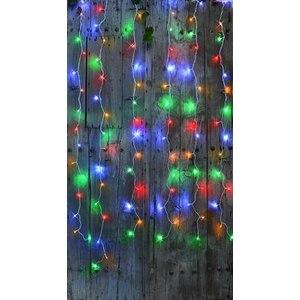 Rideau lumineux extérieur animé multicolore à LED solaire 2x2 m ...