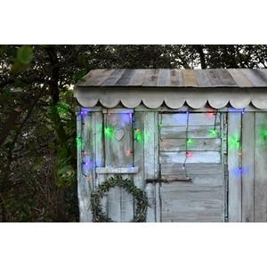 Stalactite lumineuse extérieure animée multicolore à LED solaire 0,5x16 m 344887