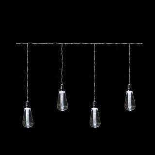 Rideau Ampoule Longue Filament Blanc Edison 345417