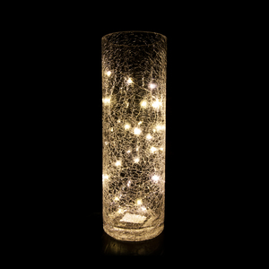 Vase Long en Verre Led Blanc Chaud 30 cm 346511