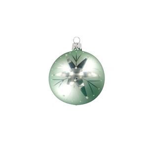 Boule décorée flocon - 7 cm 348705