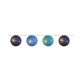 Guirlandes 20 boules camaïeu de bleus  348931