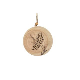 Disque en Bois avec motif Pomme de Pin - 9.86x1.27x11.43 cm 348944