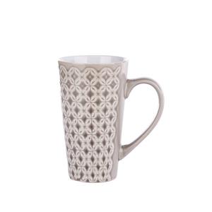 Grand mug gris à motifs 0,50 L 349138