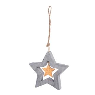 Étoile en cuivre et ciment à suspendre – 9,8 cm 349165
