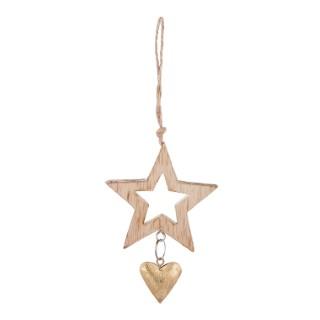 Étoile en bois à suspendre – 11 cm 349212