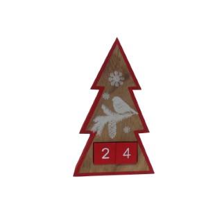 Calendrier de l'Avent en bois en forme de Sapin 349244