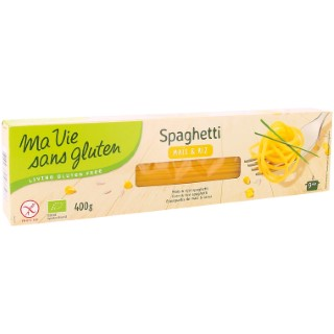 Spaghettis maïs et riz bio sans gluten en sachet de 400 g 349342