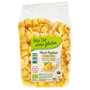 Mezzi rigatoni aux multi-céréales bio en sachet de 500 g 349345