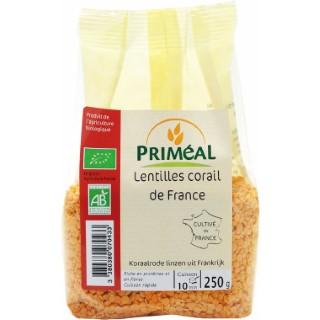 Lentilles corail de France bio en sachet de 250 g 349404