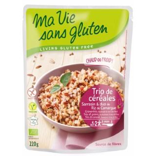 Repas de trio de céréales bio en doypack de 220 g 351431