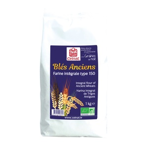 Farine de blés anciens intégrale T150 bio en sachet de 1 kg 351450
