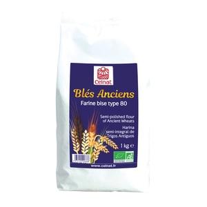 Farine de blés anciens demi complète T80 bio en sachet de 1 kg 351451