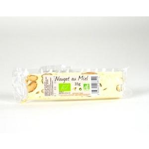Nougat blanc au miel bio en barre de 35 g 351919