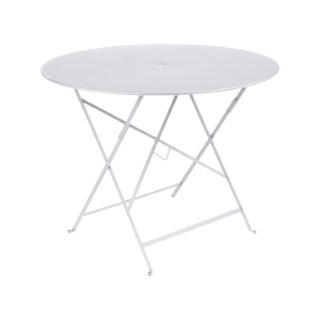 Table ronde pliante Bistro Fermob en acier coloris blanc coton Ø 96 cm 352687