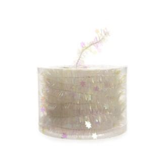 Guirlande de Noël clair irisé scintillante avec étoiles brillantes L 7m 353027