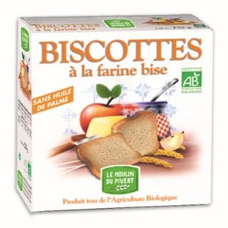 Biscottes bio à la farine bise 270 g 354719