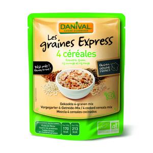 4 céréales bio Express DANIVAL 250 g 355137
