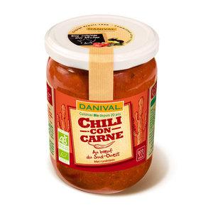 Chili con carne au bœuf d'origine française DANIVAL 525 g 355148