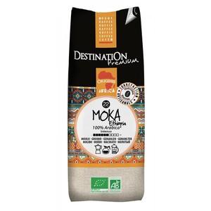 Café moka Awasas 100% arabica bio moulu en sachet de 250 g 355326