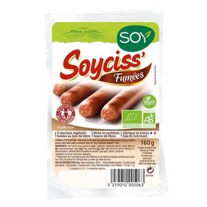 Soycisses fumées au bois de hêtre bio 160 g 355458