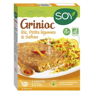 Grinioc de riz légumes et safran bio 200 g 355464