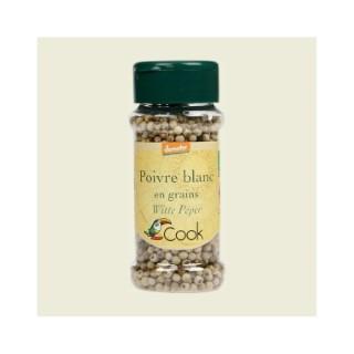 Poivre blanc en grains bio dans un pot de 50 g 356587