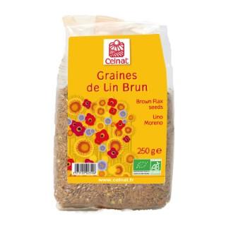 Graines de lin brun bio en sachet de 250 g 356844