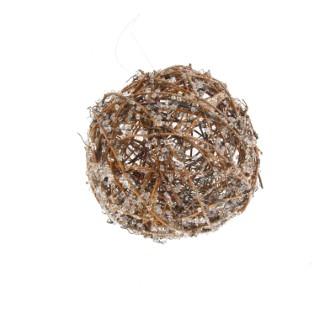 Boule en Rotin couleur bois à suspendre– Ø 25 cm 357179
