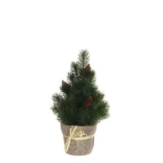 Sapin de Noël vert en pot H 30 x Ø 14 cm 357475