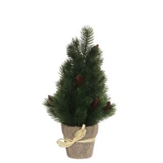 Sapin de Noël vert en pot H 40 x Ø 16 cm 357479