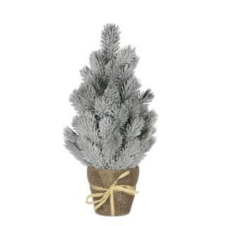 Sapin de Noël vert givré en pot H 40 x Ø 16 cm 357483