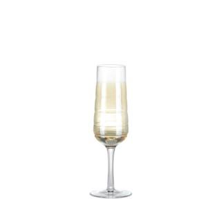 Flûte Spot en verre soufflé avec lustrage or 19 cl 357502